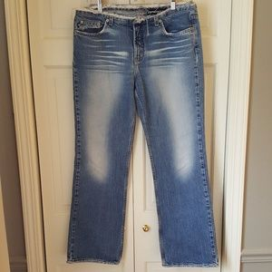 Express Frayed/Distressed Wide Leg Jeans Sz. 13/14